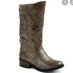 Girls Stevie's fringe cowboy boots #highfive new